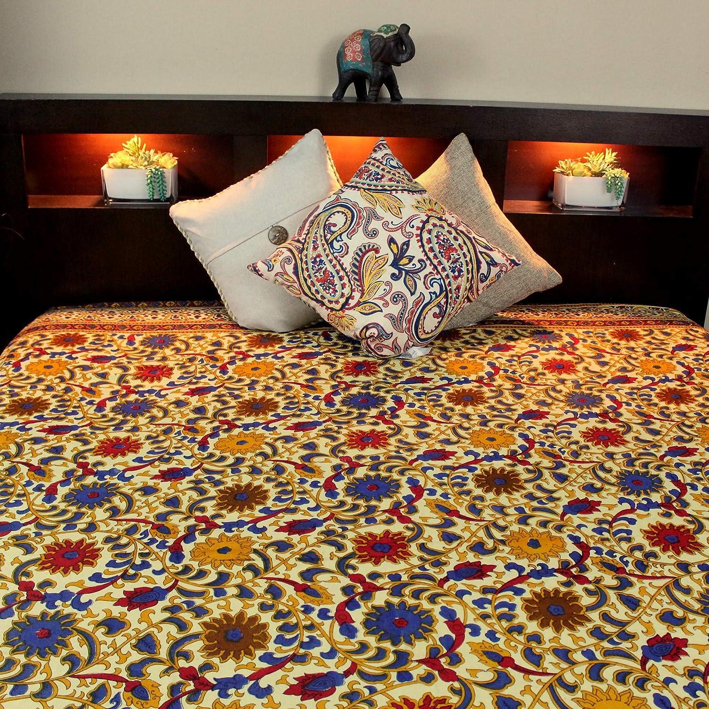 Cotton Sunflower Print Indian Bedspread