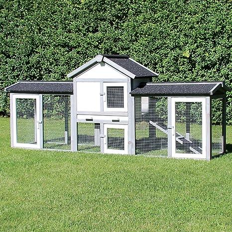 zoo-xxl - Conejera para Conejos, Color Gris y Blanco: Amazon.es: Productos para mascotas