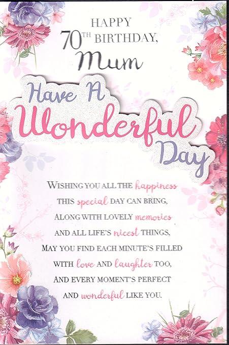 Mum 70th Birthday Card