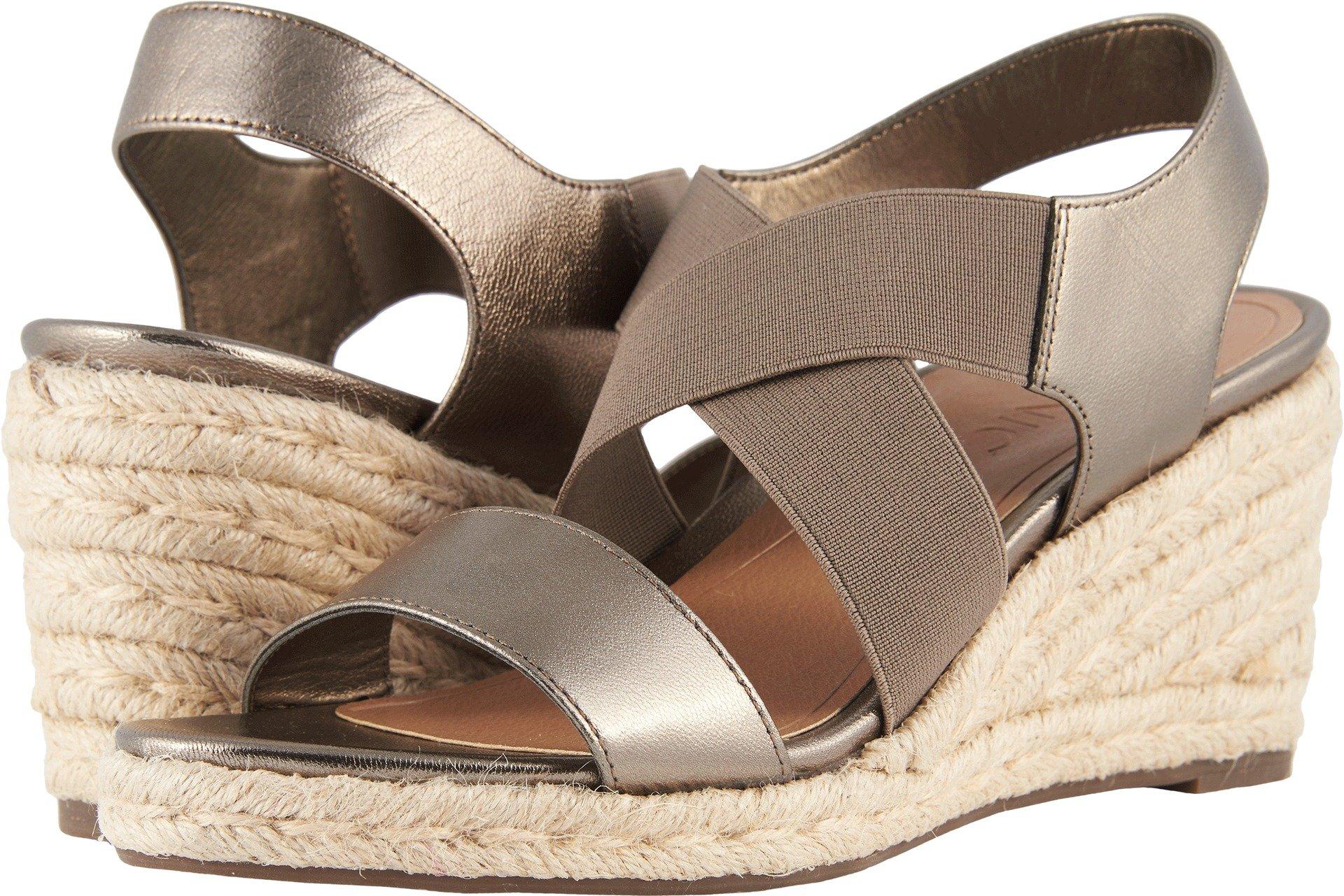 Vionic Tulum Ainsleigh - Womens Wedge Sandal Dark Taupe - 6.5 Medium