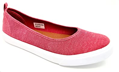 d27549b346c Dr Keller Womans Ladies Natalie Flat Summer Canvas Pump Trainer Casual  Leisure Shoe in Water Melon