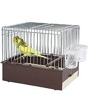 Pet Ting Brown Bird Trasporto–Viaggio Gabbia–Finch Canarie–Budgie ECT