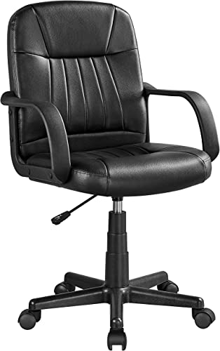 YAHEETECH Leather Office Desk Chair