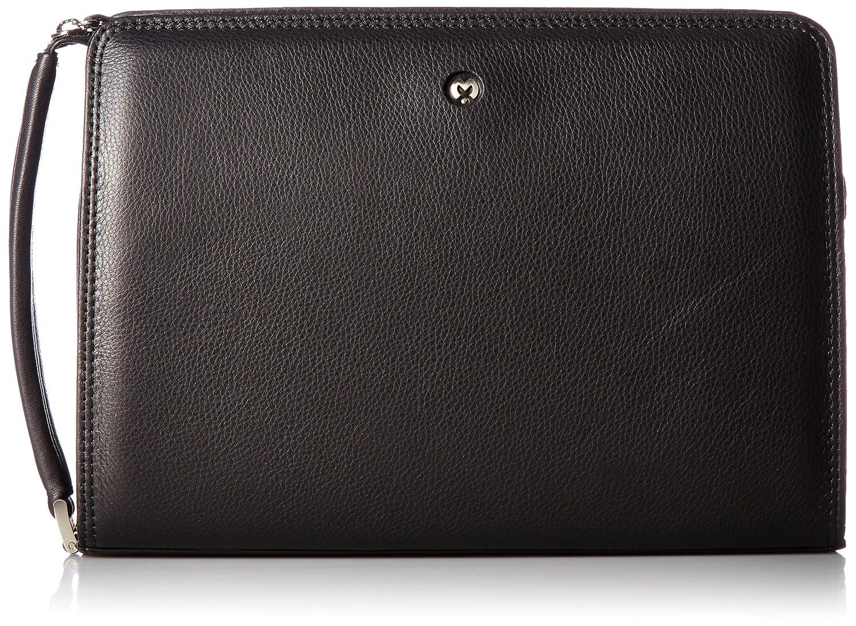 [ミラショーン] セカンドバッグ 28cm クレスタ 193222 B01MCTF1YSブラック