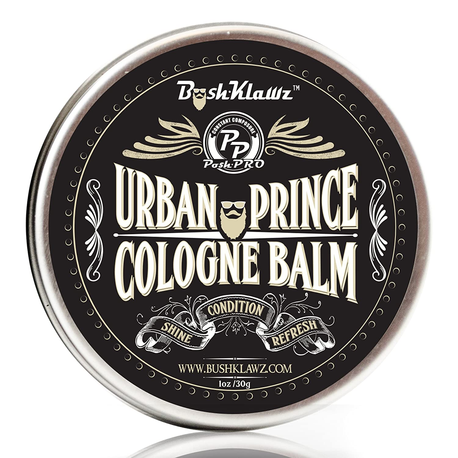Urban Prince Solid Cologne Balm Fragrance Parfum - Refreshing Modern Urban Gentleman's Manly Scent Alcohol Free Cologne for travel Best Gift for Men
