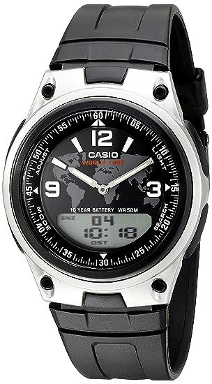 Casio AW-80 - 1 a2vcf banco de datos del hombre analógico/digital pantalla reloj de cuarzo negro: Casio: Amazon.es: Relojes