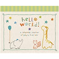 C.R. Gibson Animals 'Hello World' Baby Calendar Baby First Year Tracker, 11'' W x 18'' H