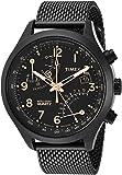 Timex Men's TW2R55000 Intelligent Quartz Fly-Back Chronograph Black Stainless Steel Mesh Bracelet Watch