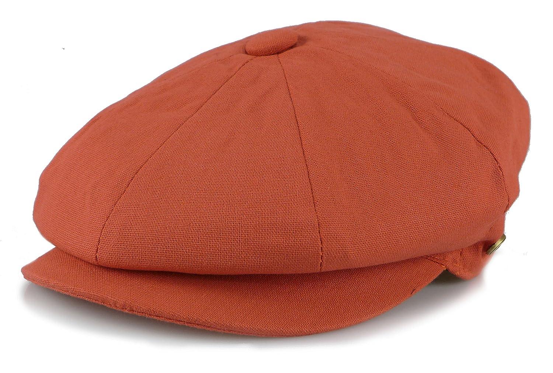 YueLian Men Womens Solid Color Linen Newsboy Cap Driver Hat