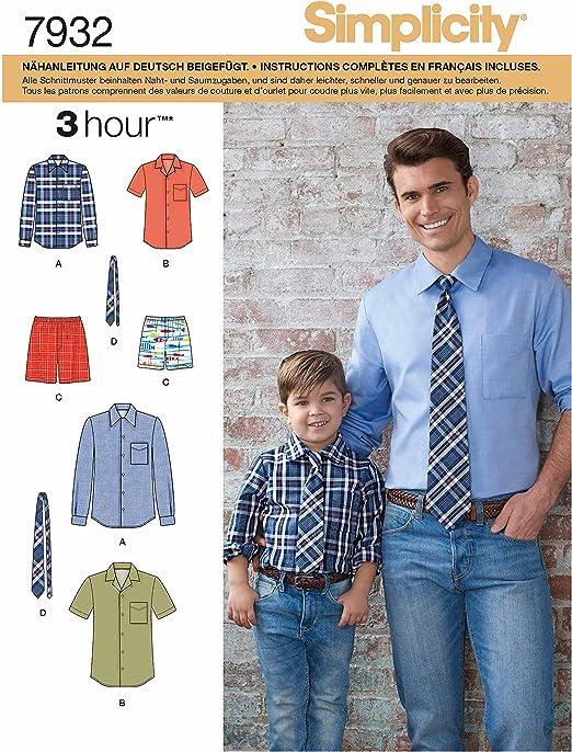 Conjunto en patrones Simplicity 7932.A con camisa, pantalón y ...