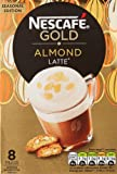 Nescafe Gold Almond Latte Sachets, 8x17 g (Pack of 6, 48 Sachets in total)