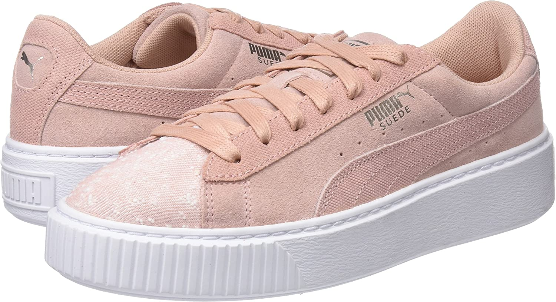 Puma Damen Suede Platform Pebble WN's Sneaker, Beige (Peach