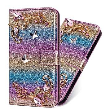 Flip Ledertasche Diamond f/ür iPhone XS Max,Magnet Sparkle Billig Glitter Glitzer Musterg Soft Slim Retro Bookstyle Stand Funktion Karteneinschub Wallet H/ülle Schutzh/ülle