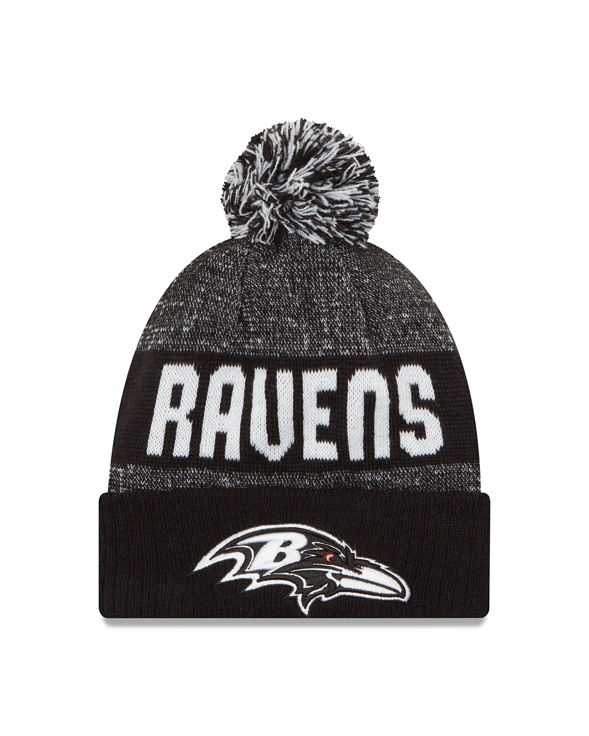 New Era NFL Baltimore Ravens 2016 Sport Knit Beanie, One Size, Black/White