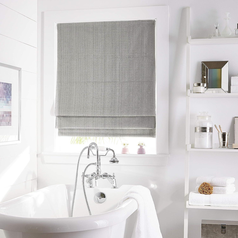 Amazon Com Curtainworks Jolie Window Shade 23 W X 64 L Grey Home Kitchen