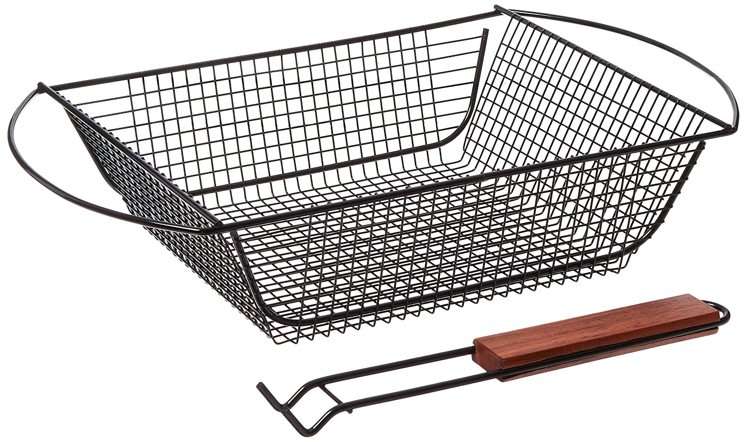 Charcoal Companion CC3017 Non-Stick Shaker Basket with Removable Handle