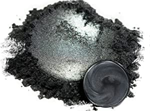 "Mica Powder Pigment ""Tanto Grey"" (50g) Multipurpose DIY Arts and Crafts Additive | Woodworking, Epoxy, Resin, Natural Bath Bombs, Paint, Soap, Nail Polish, Lip Balm (Tanto Grey, 50G)"