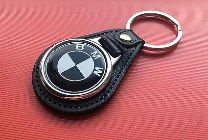 BMW piel llavero Blanco y Negro E30 E32 E34 E36 E39 E60 E90 ...