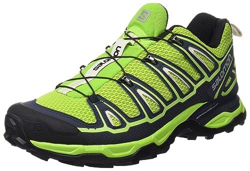 Salomon L39184200, Zapatillas de Senderismo para Hombre, Verde (Granny Green/Deep Blue/Green Glow), 42 2/3 EU: Amazon.es: Zapatos y complementos
