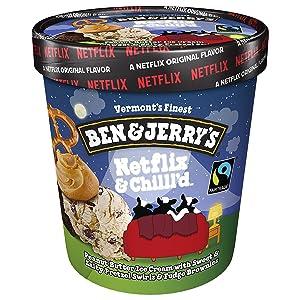 Ben & Jerry's Ice Cream Netflix & Chilll'd Non-GMO 16 oz