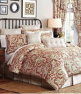 croscill leela 4pc reversible comforter set floral paisley pattern california king