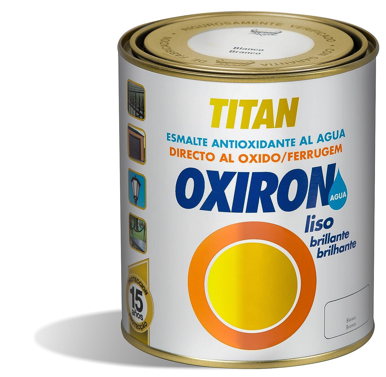 PINTURA OXIRON AGUA LISO BRILLO BLANCO 750 ML TITAN