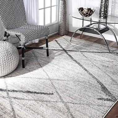 nuLOOM Contemporary Thigpen Area Rug, 7' 6  x 9' 6 , Grey