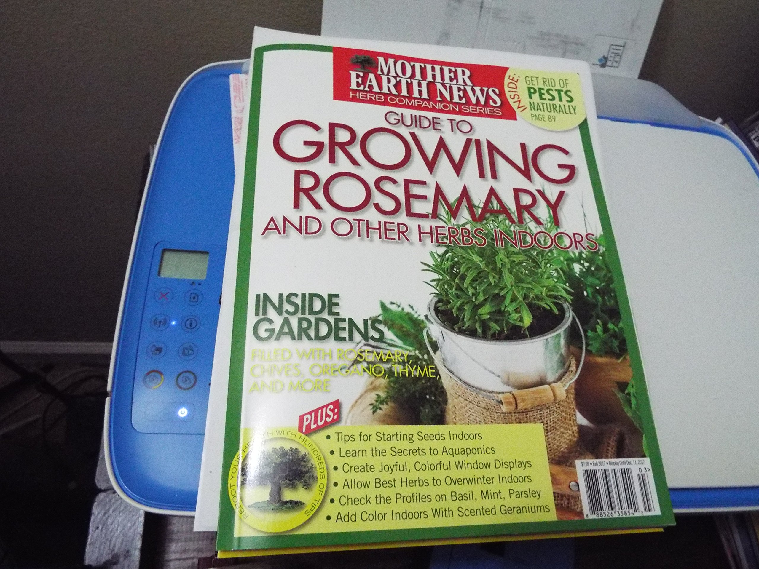 Read Online MOTHER EARTH NEWS Herb Companion series GUIDE TO GROWING ROSEMARY and other herbs indoors pdf