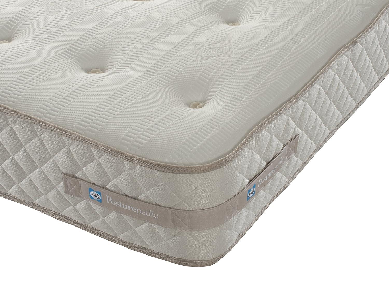 Sealy Ortho de Memoria Newark 1500 Bolsillo colchón - Funda de Piel sintética con, Blanco, Suelto: Amazon.es: Hogar
