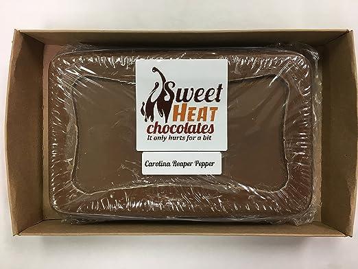 Sweet Heat Chocolates Milk 1LB Block (Carolina Reaper Pepper)