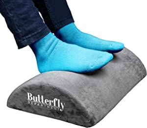 Foot Rest | High Resilient Comfort Foam | Ergonomic Foot Stool | Non-Slip Bottom | Soft Removable Cover | Optimum Leg Clearance | Footrest Cushion for Desk | Foot Rest Under Desk | Office and Home