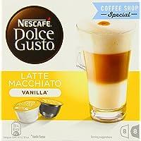 Nestle 雀巢 DOLCE GUSTO 香草拿铁玛奇朵咖啡胶囊,16个装(3包装 - 总共48个,24份)