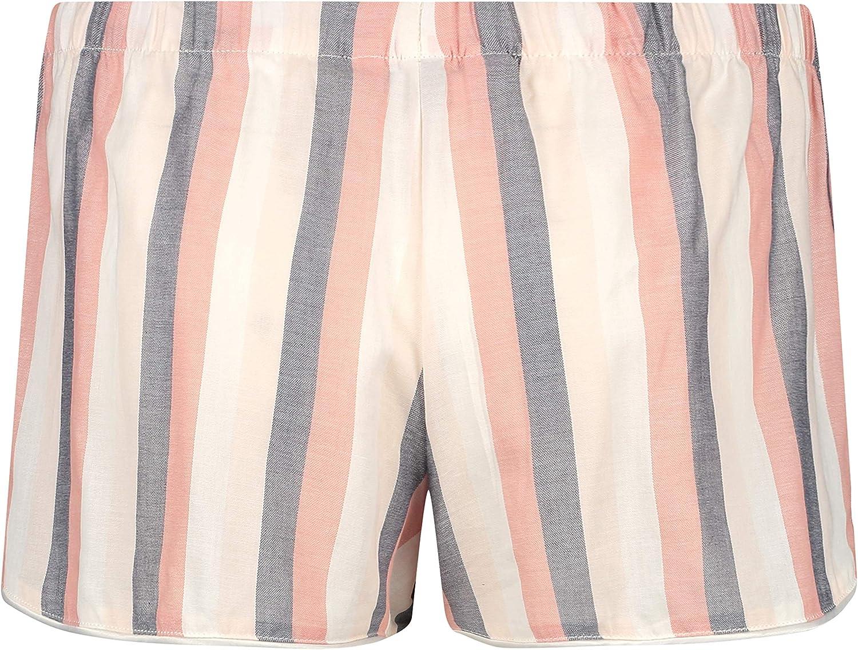 HUNKEM/ÖLLER Damen Pyjama-Shorts Oxford-Streifen