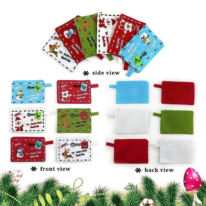 Amazon.com: athoinsu Navidad sobres tarjetas de felicitación ...