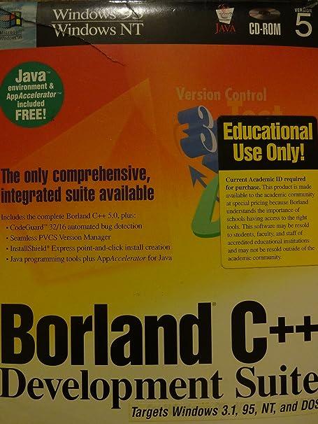 Amazon com: Borland C++ 5 0 Development Suite-the only
