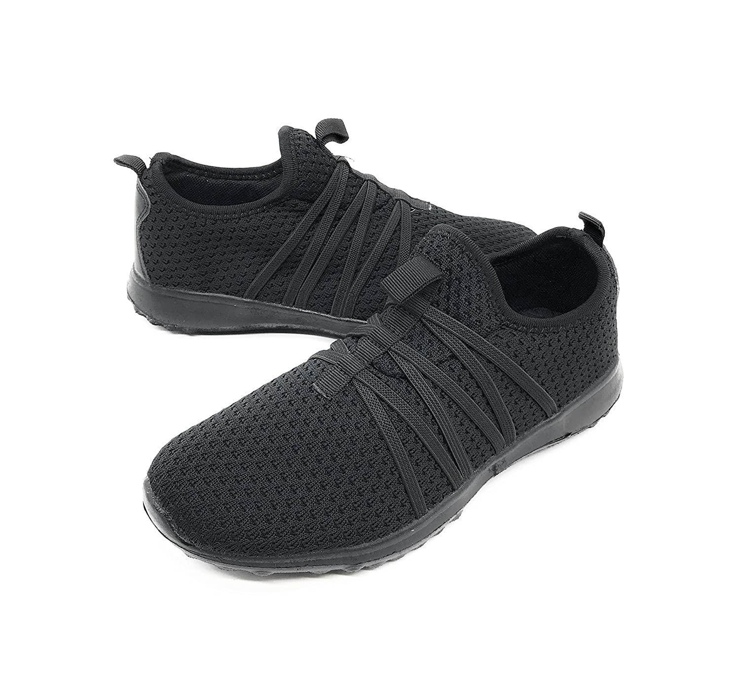 Blue Berry EASY21 Women Casual Fashion Sneakers Breathable Athletic Sports Light Weight Shoes B079VSX7SS 7 B(M) US|All Black01