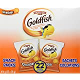Pepperidge Farm Goldfish, Cheddar Snack Pack Crackers, 22 Count, 616g