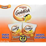 Pepperidge Farm Goldfish Cheddar Crackers Snack Pack, 28g, 22 Count