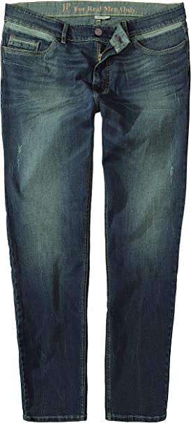 JP 1880 Mens Big /& Tall Bleached Straight Leg Stretch Jeans 714438