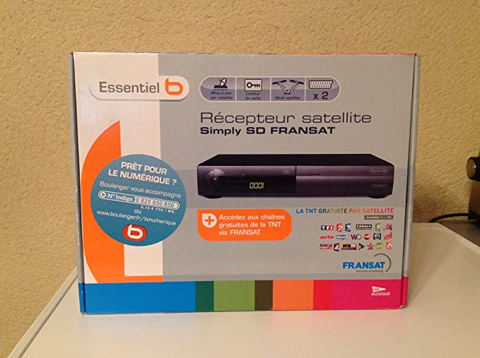 Carte Fransat Boulanger.Essentiel B Simply Sd Fransat 829951 Tuner Digital Amazon Fr Tv
