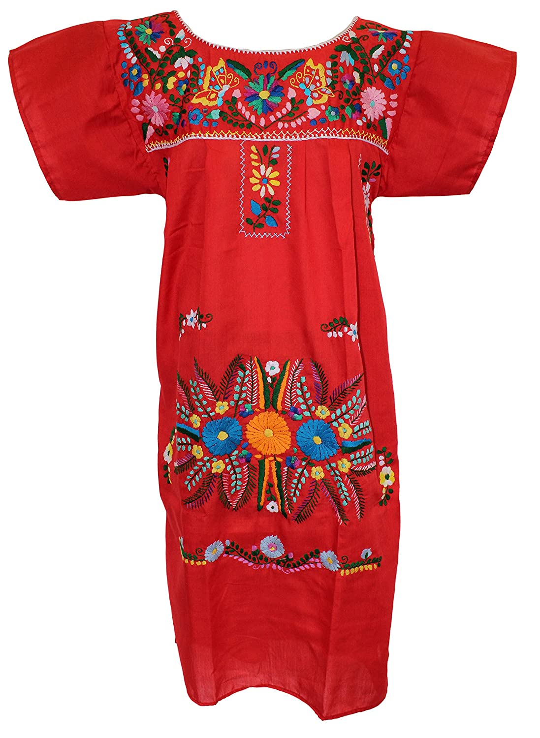 b297d6fa963a23 Women s Puebla Mexican Dress - Red at Amazon Women s Clothing store