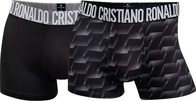 Hombres Pack de 2 Calzoncillos de Microfibra Fashion S|M|L|XL CR7 Cristiano Ronaldo