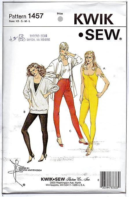 Amazon Kwik Sew Sewing Pattern 1457 Misses Unitard Stirup