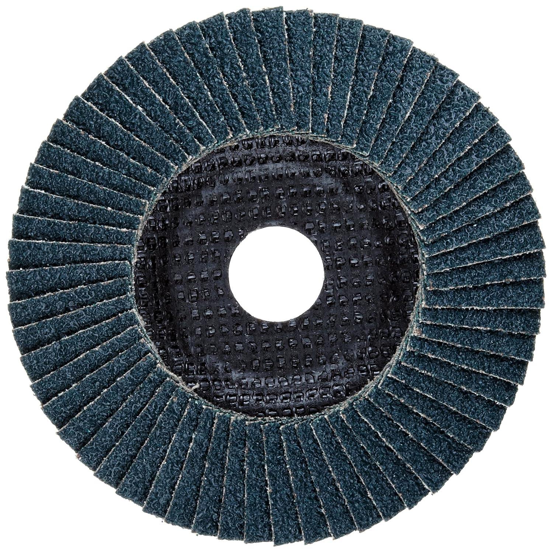 5 Dia. Type 29 Pack of 1 Phenolic Resin Backing PFERD Polifan SG Abrasive Flap Disc Threaded Hole Zirconia Alumina 5 Dia. 40 Grit