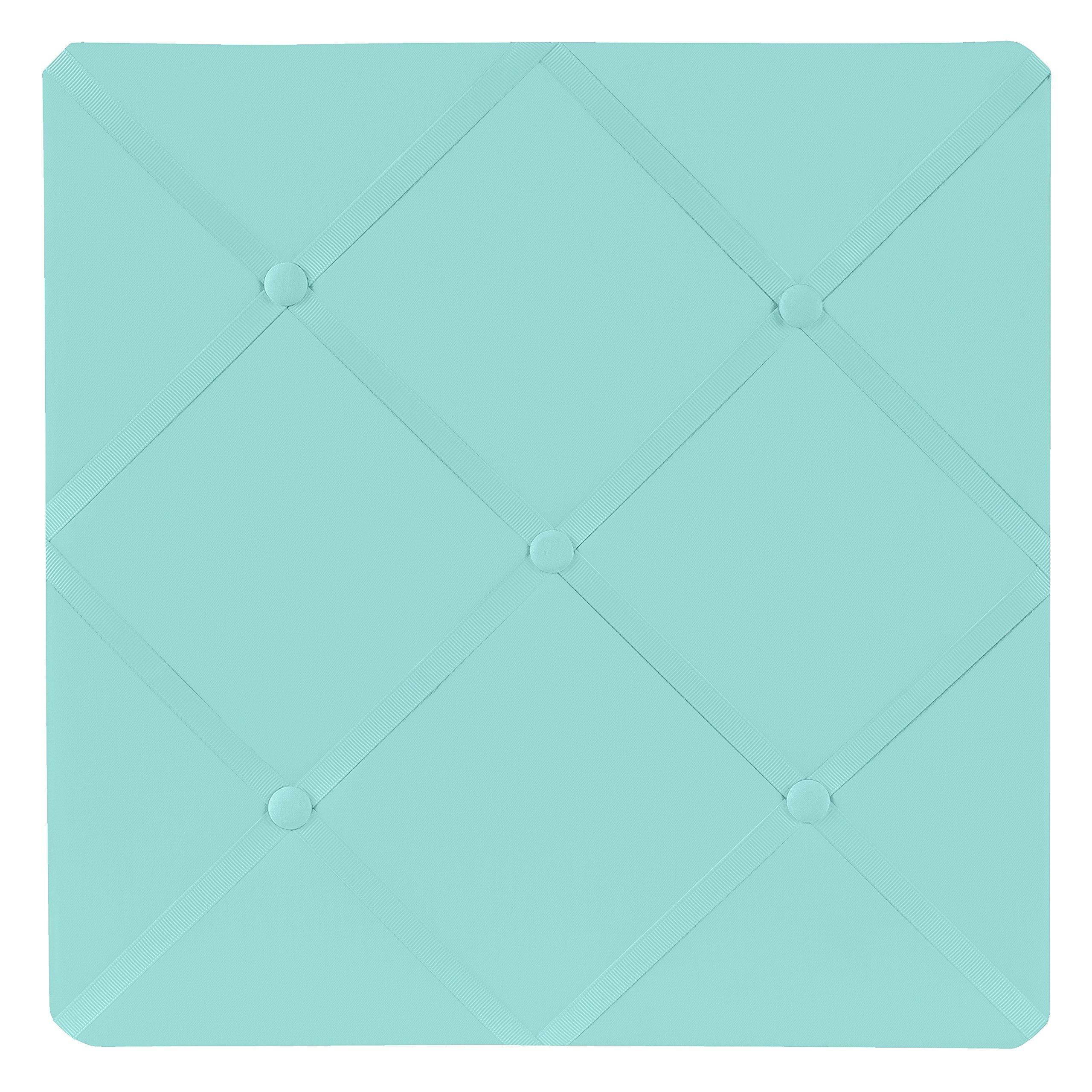Sweet Jojo Designs Turquoise Blue Fabric Memory/Memo Photo Bulletin Board by