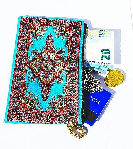 Monedero Turco Tradicional con Cremallera - Ideal para Monedas, Tarjeta, Llaves 15 CM X 10 CM: Amazon.es: Equipaje