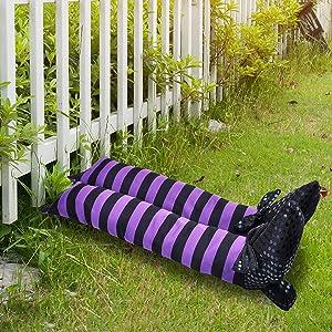 "JOYIN Halloween 19.5"" Wicked Witch Leg, Halloween Witch Craft, Best Halloween Decor, Stuffed Witch Halloween Decorations for Outdoor, Indoor Decor"
