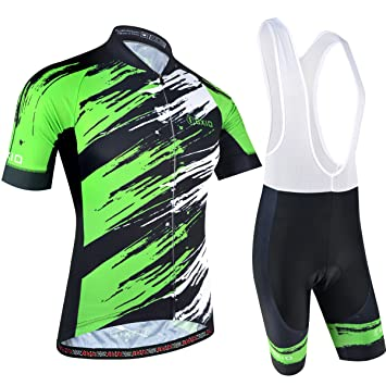 BXIO Traje Ciclismo Hombre, Ciclismo Maillot y Culotte Pantalones Cortos con 5D Gel Pad para Verano Deportes al Aire Libre Ciclo Bicicleta 170
