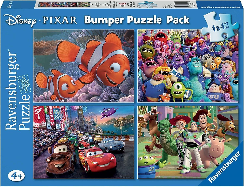 Disney Pixar - Bumper Pack, Puzzles 4 x 42 Piezas (Ravensburger ...