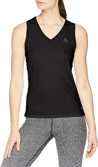Odlo Bl Top V-Neck Singlet Active F-Dry Light - Camiseta Mujer